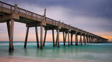pcola beach pier charlotte aguilar